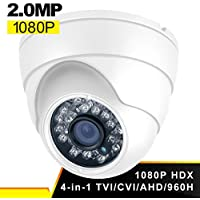Dome Security Camera, Savvypixel Hybrid HD 1080P 4 in 1 TVI/CVI/CVBS/AHD Security Cameras, Waterproof outdoor / Indoor Day & Night Vision 3.6mm Lens Dome Cameras for CCTV Camera System