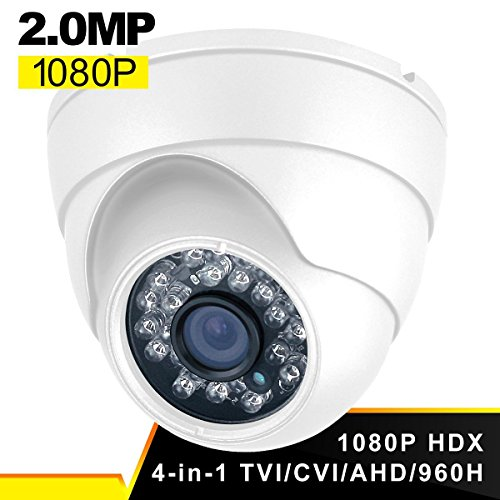 Dome Security Camera, Savvypixel Hybrid HD 1080P 4 in 1 TVI/...