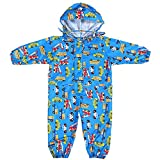 Toddler Rain Suit with Hood Waterproof Coverall