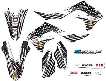 Compatible with Kawasaki Merica 2000-2020 KX 65 Complete CUSTOM Senge Graphics Kit
