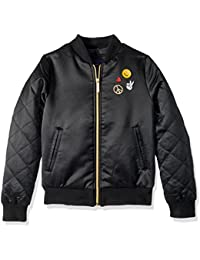 Girls' Too Bomber W/Patches and Quilted Sleeves