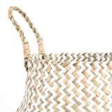 FEILANDUO Laundry Baskets Hand-Woven Seaweed