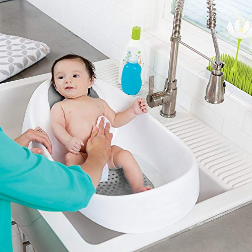 Boon, Soak 3-Stage Bathtub for Babies,Gray, White