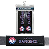 MLB Texas Rangers Seat Belt Pad (Pack of 2), One Size, White