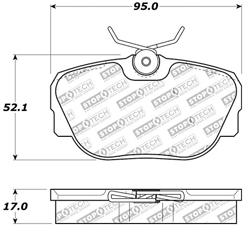 - StopTech 309.04930 Street Performance Front Brake Pad