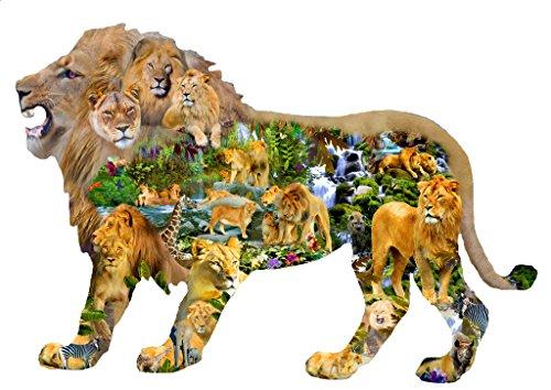 Lion's Roar 1000 pc Shaped Jigsaw Puzzle by SunsOut