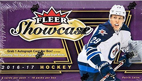 - 2016/17 Upper Deck Fleer Showcase NHL Hockey HOBBY box (18 p)
