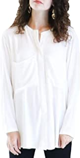 product image for Shaina Mote Womens Warp Top Twist Back Top White