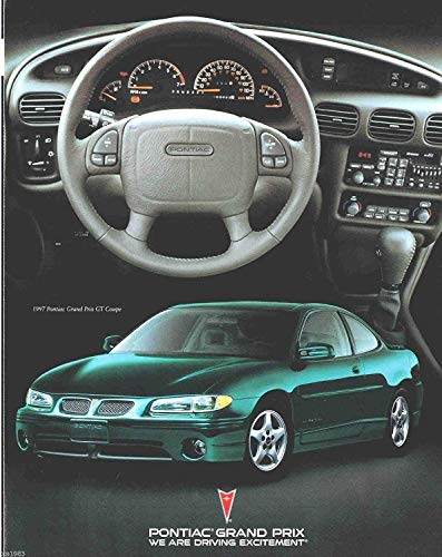 - 1997 PONTIAC GRAND PRIX GT SEDAN & COUPE COLOR SALES BROCHURE FOLDER