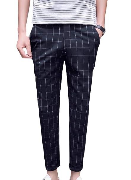Amazon.com: Fseason-Men - Pantalón de vestir para hombre ...