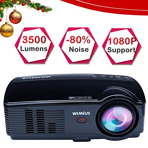 WiMiUS Projector, 3500 Lumens Full HD 1080P and 200