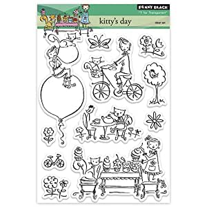 Penny black decorative rubber stamps kitty 39 s for Rubber stamps arts and crafts