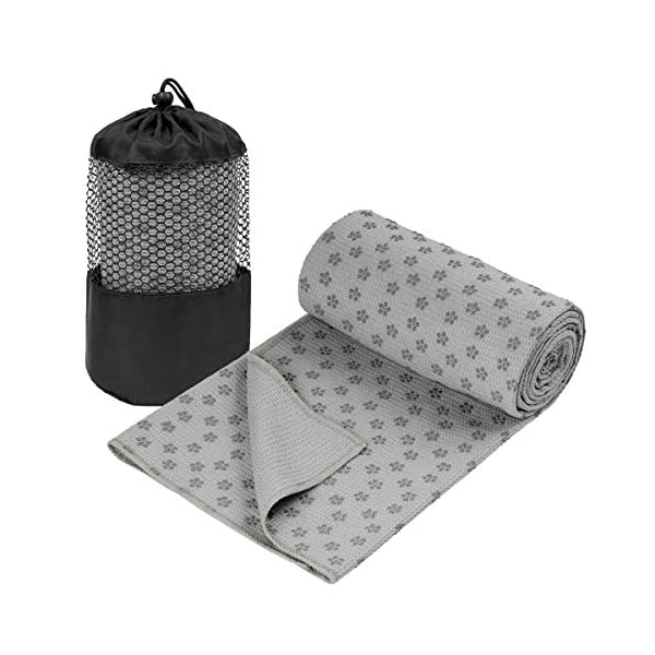 74 x 26 Non Slip Hot yoga towel 100/% Microfiber Sweat Absorbing Pilates Bikram Yoga Towel with Free Carry Bag Yoga Mat Towel