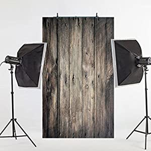 DODOING 3X5ft Retro Vinyl Wood Wall Photo Photography Backdrops Studio Background Studio Props