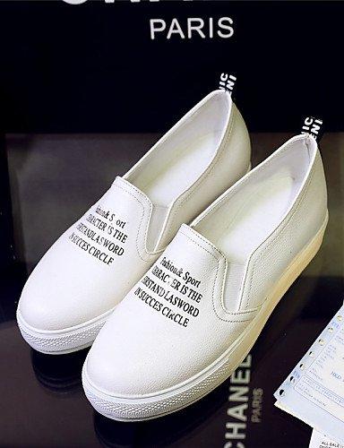 ZQ Zapatos de mujer - Plataforma - Plataforma / Creepers - Mocasines - Exterior / Vestido / Casual - Semicuero -Negro / Rojo / Blanco / , black-us6 / eu36 / uk4 / cn36 , black-us6 / eu36 / uk4 / cn36 red-us7.5 / eu38 / uk5.5 / cn38