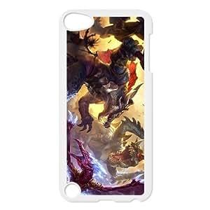 iPod Touch 5 Case White League of Legends Prehistoric Cho'Gath EUA15975876 Fashion Phone Case Personalized