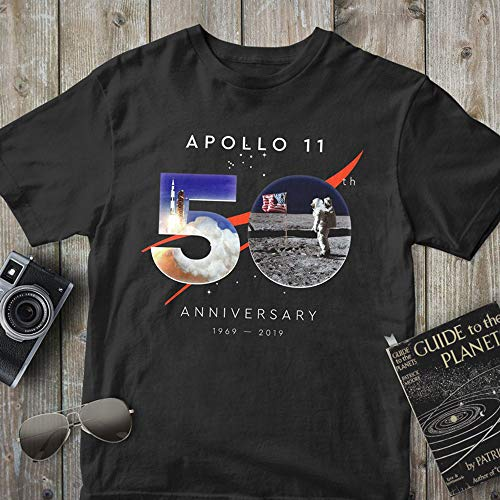 Apollo 11, 50th Anniversary 1969-2019, Moon Landing, First Lunar Landing, Perfect Astronomy Lover Gift (Unisex T Shirt & Tank Top) T-Shirt, Hoodie for men woman