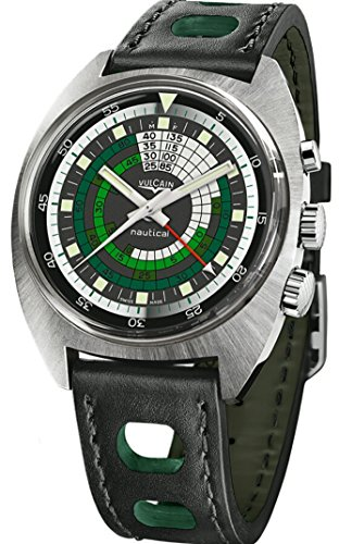 Vulcain Nautical Seventies 70's Limited Edition Green Mens Watch