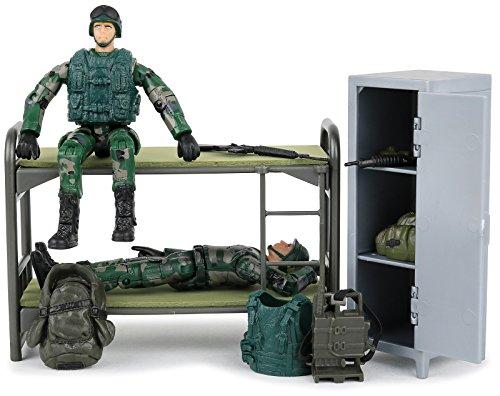 Click N' Play Military Life Living Quarters Bunk Bed 14 Piec