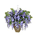 House-of-Silk-Flowers-Artificial-Violet-Wisteria-in-Square-Hanging-Basket