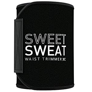 Sweet Sweat Waist Trimmer 'Xtra-Coverage' for Men & Women | Premium Waist Trainer Sauna Suit with More Torso Coverage…