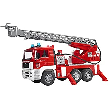 Amazon com: Bruder Scania R-Serie Fire Engine with Water Pump and L