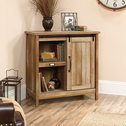 "Sauder 422473 Adept Storage Accent Storage Cabinet, For TV's up to 39"", Craftsman Oak finish"