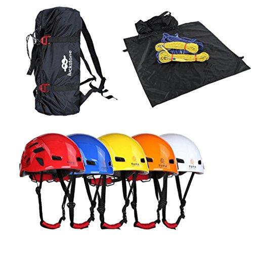 MagiDeal Portable Folding Nylon Outdoor Mountaineering Rock Climbing Tree Arborist Rope Bag & Ground Sheet + Safety Helmet