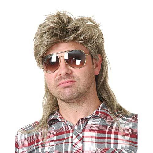 Baruisi 80s Men's Mullet Wig Blonde Cosplay