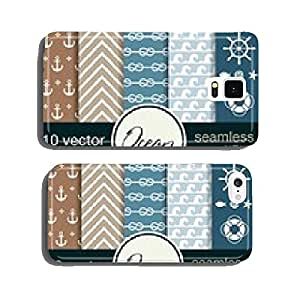 Nautical theme. 10 seamless vector patterns. cell phone cover case iPhone5
