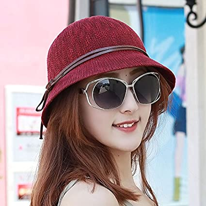 SAIBANGZI Women s Hat Breathable Collapsible Basin Cap Dome Small Hat Sun  Hat Outdoor Beach Cap Thin 8436415847c1
