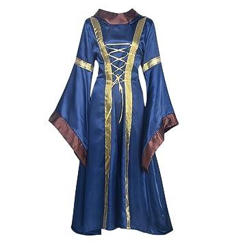 Vestido de bruja de Halloween, vestido victoriano de renacentista, disfraz de cosplay extra-
