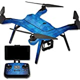 MightySkins Protective Vinyl Skin Decal for 3DR Solo Drone Quadcopter wrap cover sticker skins Blue Retro
