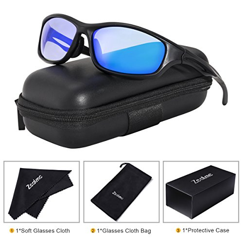 Zealme Polarized Sports Sunglasses for Men Women Lightweight Durable Plastic Frame HD Vision Anti Glare Lens UV 400 UVA UVB for Running Hiking Bike Cycling Driving 607 - Personalized Sunglasses Plastic