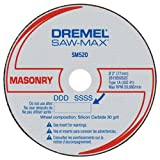 "Dremel SM520c 3"" Masonry Cut-Off Wheel, 3 Pack"