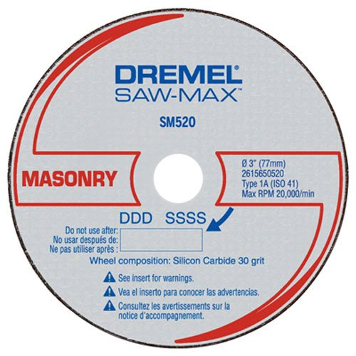 Dremel SM520c 3-Inch Masonry Cut-Off Wheel, 3-Pack