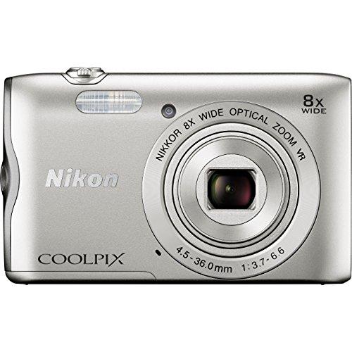 Nikon Coolpix A300 20 MP Point & Shoot Digital Camera, Silver