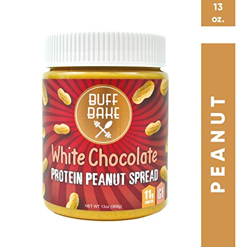 Protein Peanut Butter - Nut Butter Spread with 11 Grams of Whey Protein, Gluten Free, Non-GMO (White Chocolate, 13 oz) (Best No Bake Cookies With Peanut Butter)