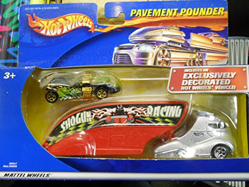 Pavement Pounder (Hot Wheels - Limited Edition Pavement Pounder Transport Rig (Tractor/Trailer) Replica with Exclusively Decorated Hot Wheels Vehicle)