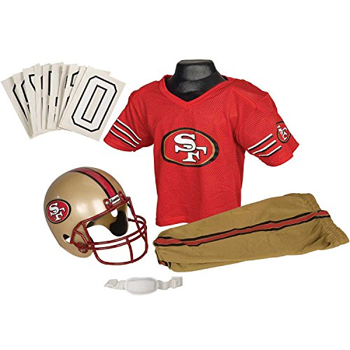 Nfl 49ers Uniform Costumes - Franklin Sports Deluxe NFL-Style Youth Uniform
