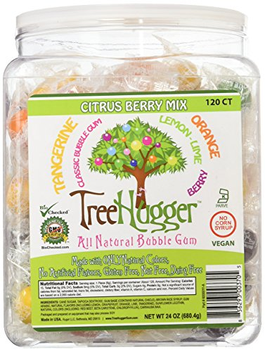 - Tree Hugger Bubble Gum, Citrus Berry, 120 Count
