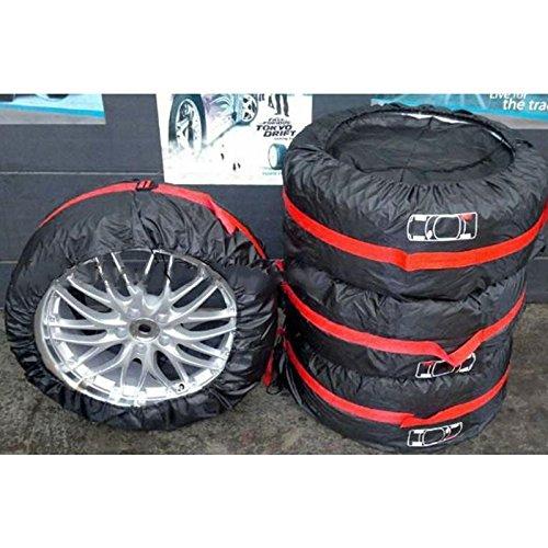 Sedeta Housse de pneu de rechange Tissu d'Oxford Pour roue de 13-16 pouces Noir Résistance au mildiou