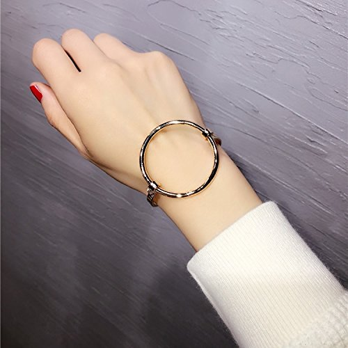Generic Taiwan catwalk models in Europe and America exaggeration big circle glossy Ms. bracelet bracelet bracelet Korean Fashion Bracelets