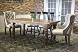 Annli Turned Leg Cottage Dining Table (72'' L x 42'' W x 30'' H, Barn Wood Finish)
