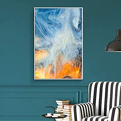Grand Piece of Art, Created Just For You, Floating Framed for Living Room Bedroom Abstract Colorful Painting for