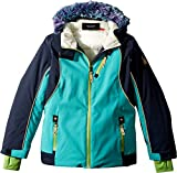 Spyder Kids Girl's Posh Faux Fur Jacket (Big Kids) Baltic/Frontier 14