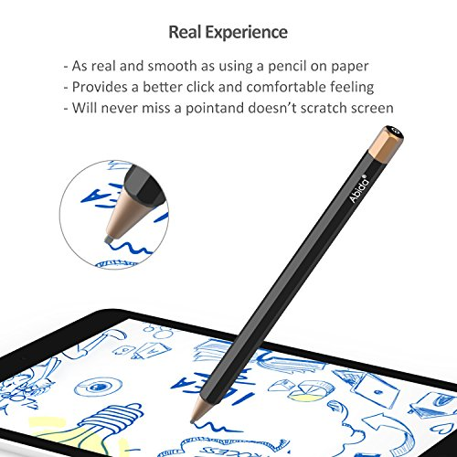 Abida Stylus for iPad, Touchscreen Pen with Fiber Fine Tip, Rechargeable, No Need App or Bluetooth for iOS Devices, Especially for Apple Devices Such as iPad, iPhone, iPad Pro - Brown by Abida (Image #1)