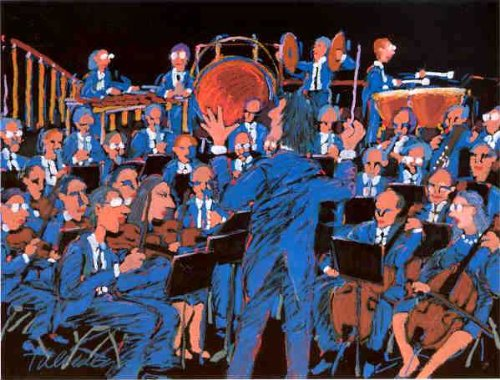 (James Talmadge - Concert in Blue Artist's Proof Hand Pulled Serigraph)