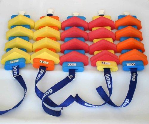 Schwimmgürtel Jugendliche mit Sicherheitsverschluß 100cm Länge, verstellbarem Gurtband und abnehmbaren Plastazote-Schwimmern. Geeignet für Schwimmtraining. Nur so viel Hilfe wie nötig!