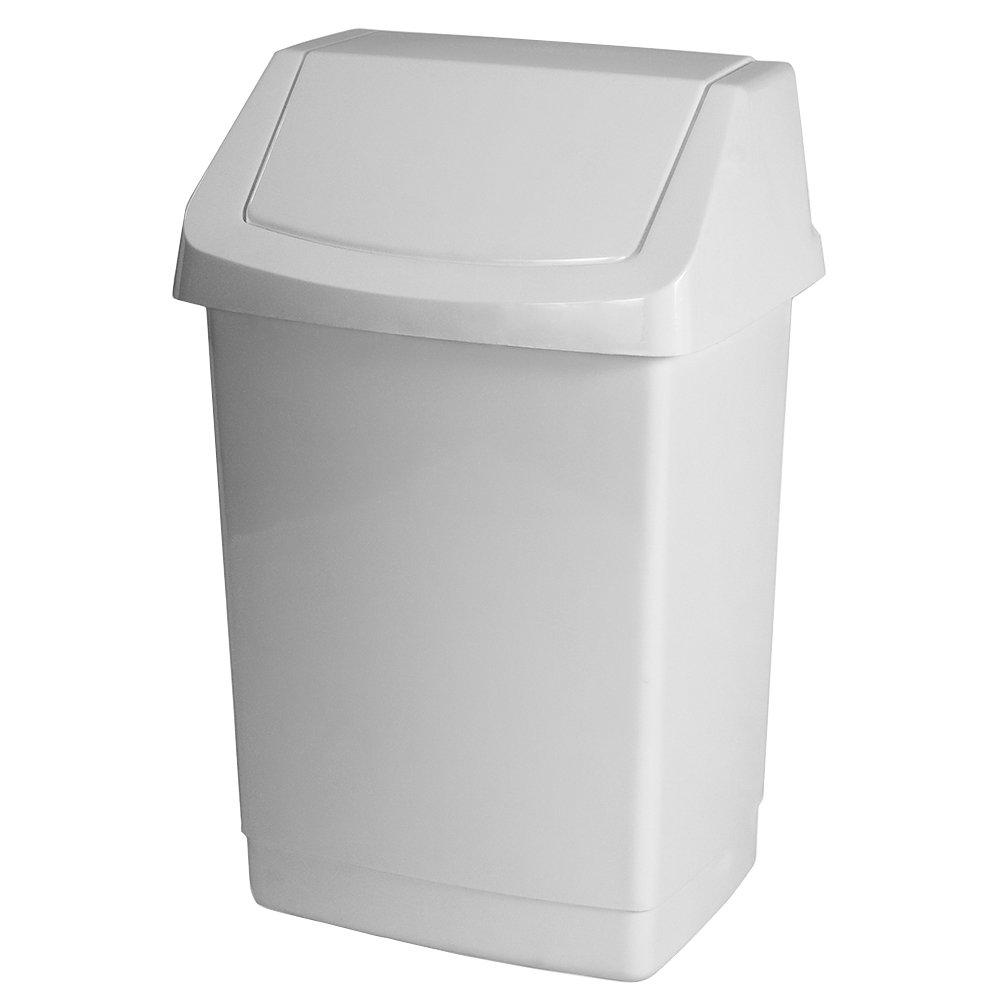 Curver 04044–026–65contenitore per rifiuti Click di IT 32,5x 26,5x 50,5cm in Bianco, Plastica, 32.5x 26.5x 50.5cm 04044-026-65